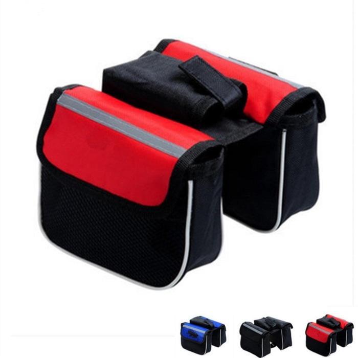 Friend Store - Tas Sepeda Merida Mountain Bike Tube Bag Saddle Pack Waterproof Double