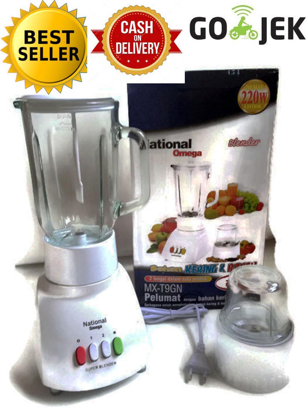 Juicer Pengekstrak Buah Signora Power National Omega Blender 2 In 1 Putih