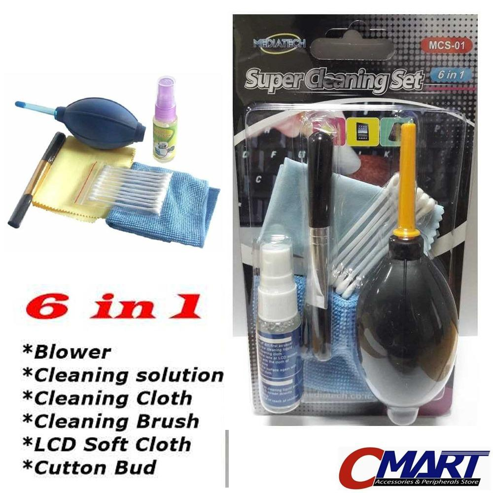 Pembersih Lensa Cleaning Kit Kamera + Blower 6 in 1 Set - GRC-CL-SCS