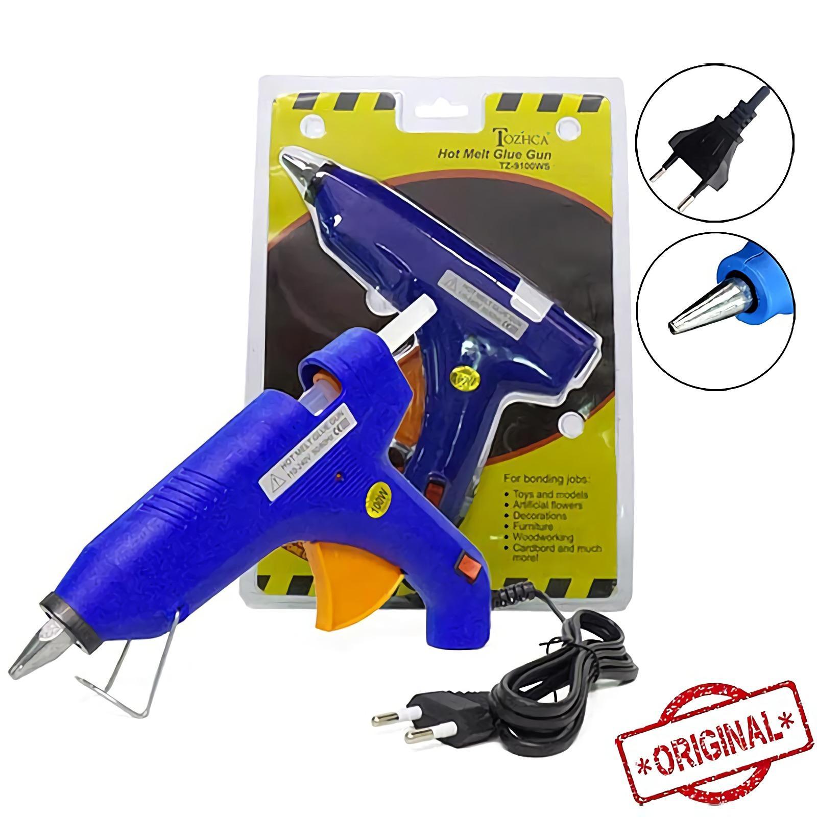 OHOME Alat Lem Tembak 100 Watt Glue Gun Set MS-TZ-9100WS Biru