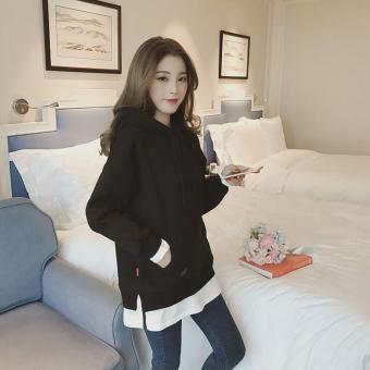 Price Checker 2018 busana musim gugur model baru Gaya Korea longgar Jaket  model setengah panjang hoodie 267dfa1bfc