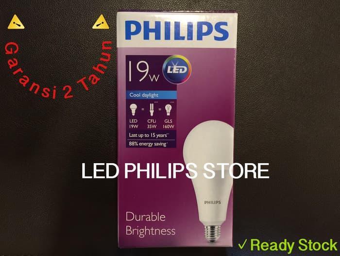 Promo Lampu Bohlam LED Philips 19 Watt 19W 19Watt 19 W (Nyala Putih) original