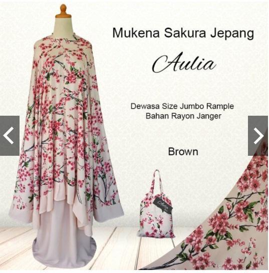 Mukena Bali Jumbo Rempel Sakura Jepang
