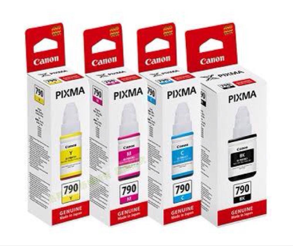 Jual Tinta Printer Canon Terbaik G Series Yellow Ink Cartridge Gi790 Set Original Black Cyan Magenta