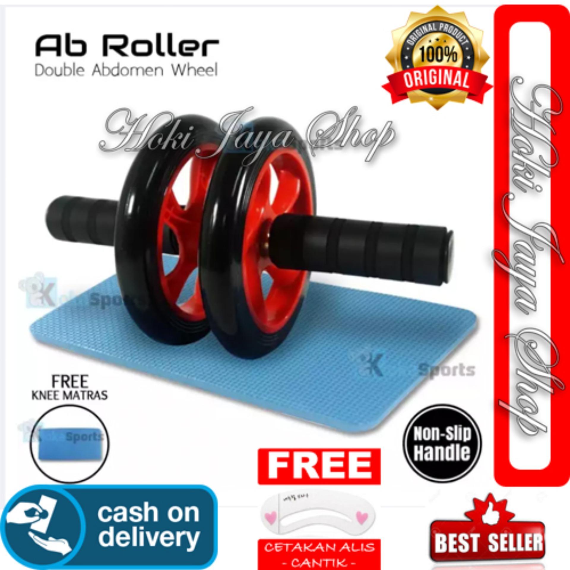 HOKI COD - AB Roller Double Wheel YY-1601X Super Mute Double Abdomen Fitness Gratis