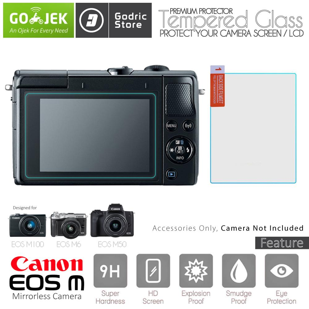 Canon EOS M100 M6 M50 LCD Tempered Glass Screen Protector Anti Gores