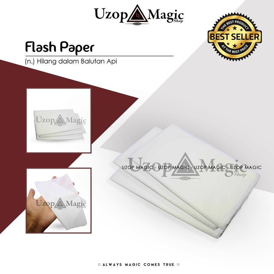 (PROMO TERBATAS) Alat Sulap Flash Paper - Uzop Magic