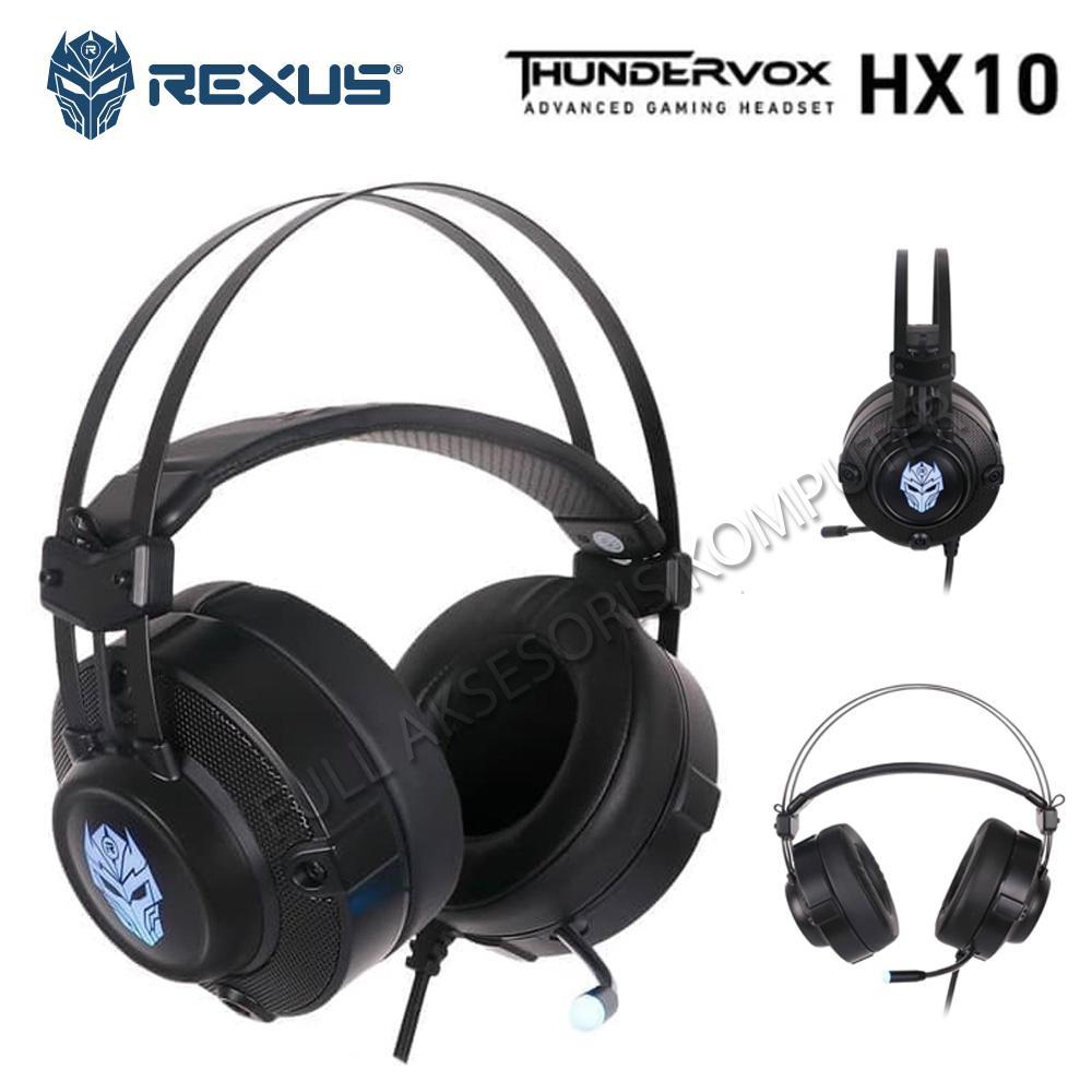Rexus Thundervox HX10 Headset Gaming 7.1 Surround - Hitam - Headphone Over the Ear [Di Yogyakarta] | DuniaAudio.com