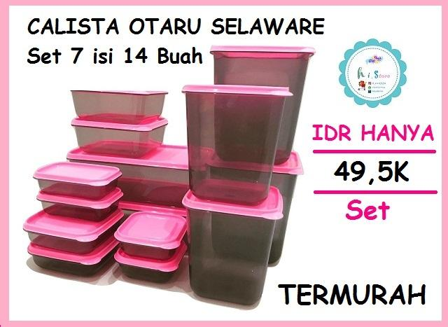 PINK - Calista Otaru Sealware Set 7G - 14 Buah