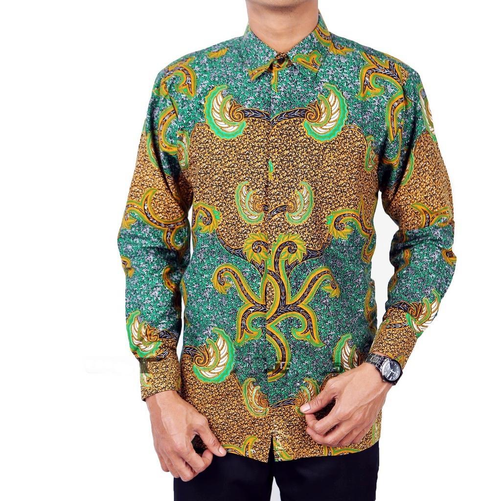 Baju Batik Kemeja Lengan Panjang Exclusive Motif Batik Garuda / Batik Modern / Batik Fashion / Toko Batik / Batik / Batik Kerja / Seragam Batik / Kemeja Batik Pria / Batik Sogan / Batik Pria / Baju Batik Pria / Gambar Batik Garuda