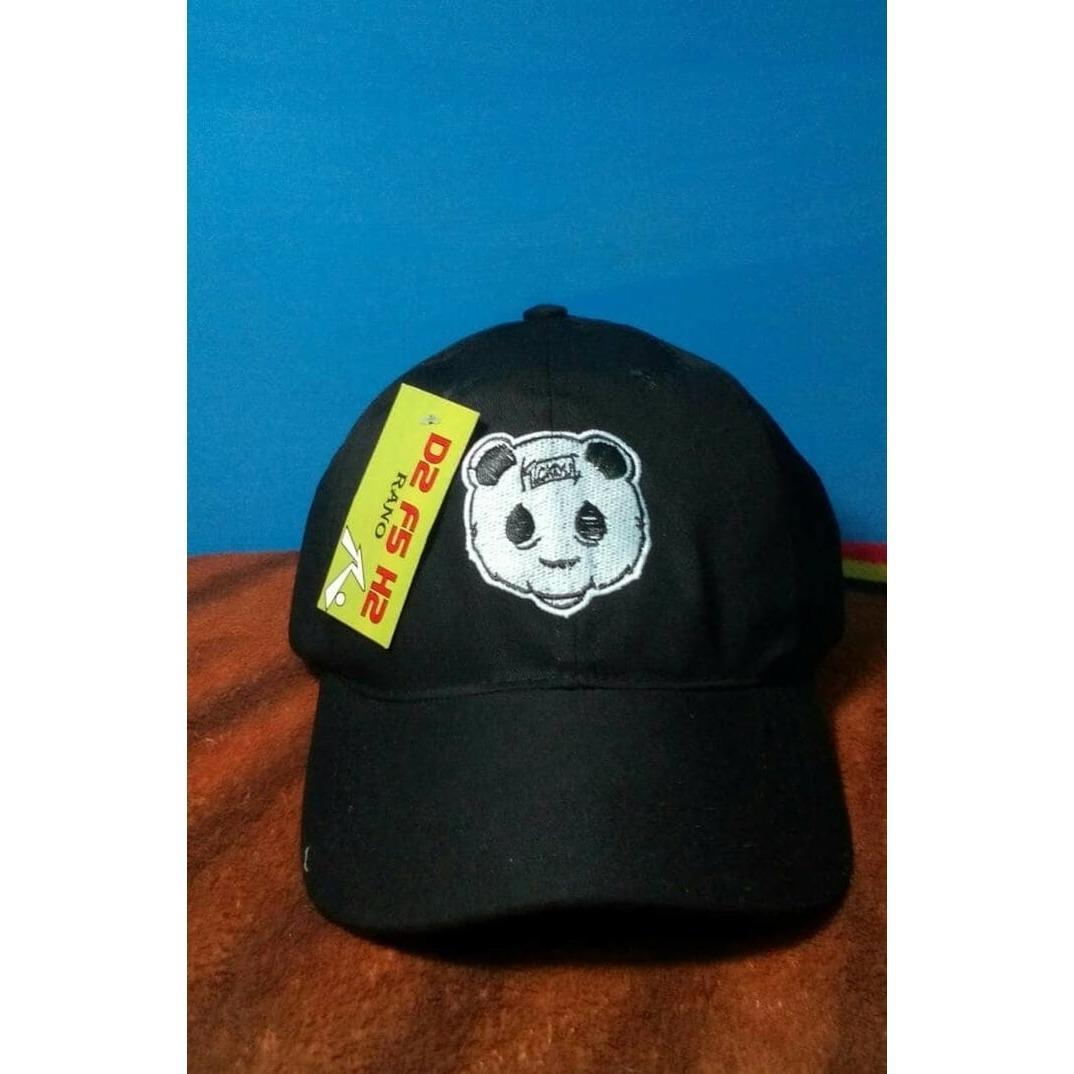 Topi Baseball Bordir Panda Kickout x Zero Heroes
