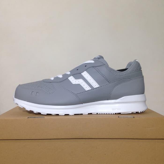Sepatu Casual Piero Jogger Hooligan Grey White P20498 Original BNIB