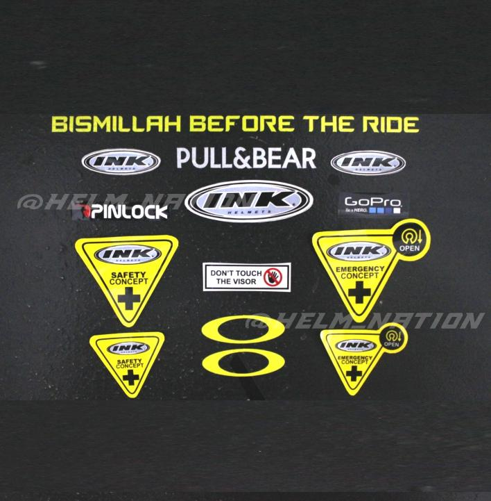 Paket Stiker Visor Helm INK Bismillah Before The Ride