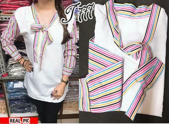 FJCO RAINBOW AUREL / Blus wanita / Atasan wanita / Fashion wanita