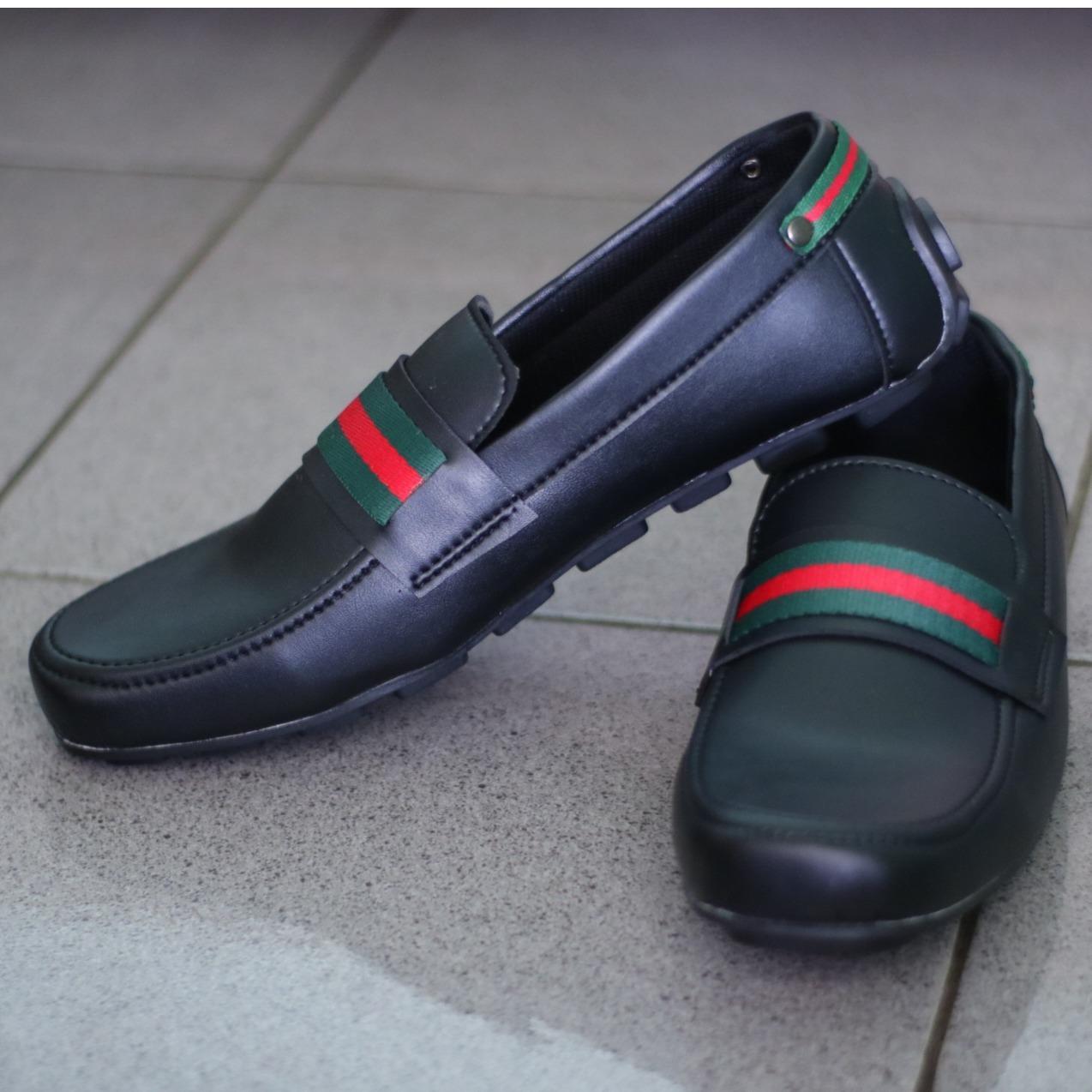 Sepatu Slip-on (Guci) Gucci Pria dan Kasual Pria - Multi Polos (Lokal)