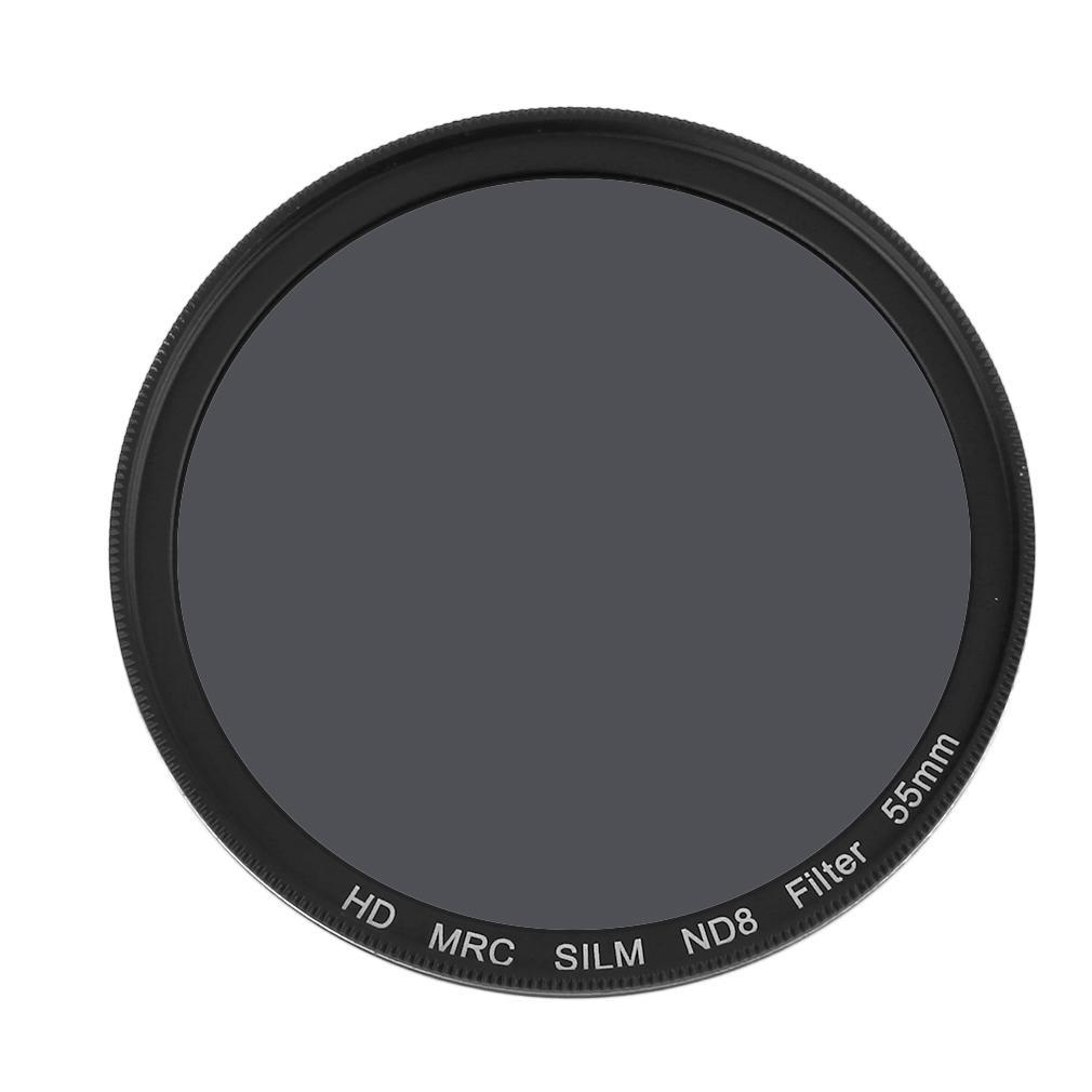 Qnstar 55 Mm Thin Anti-Air ND8 Kamera Lensa Penyaring untuk Canon Perak