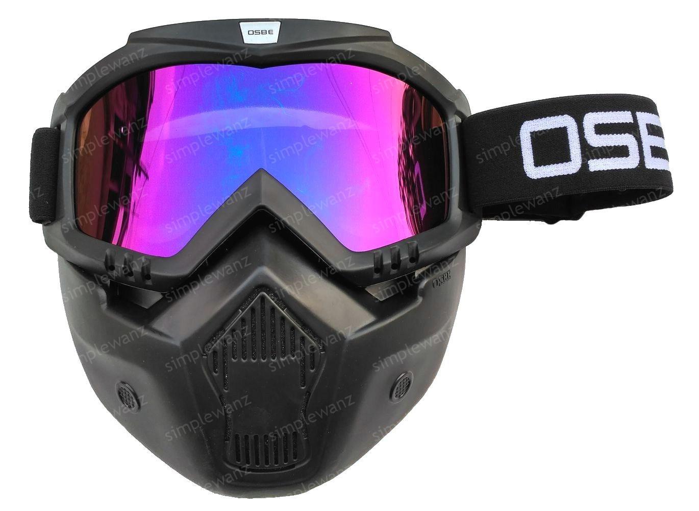 Kacamata Goggle Motocross Trail Shark OSBE Alien Mask Modular Rainbow  Google Masker Topeng Pelangi