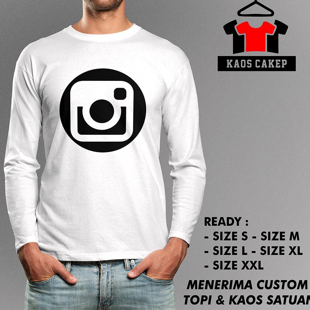 Kaos Instagram New Tangan Panjang