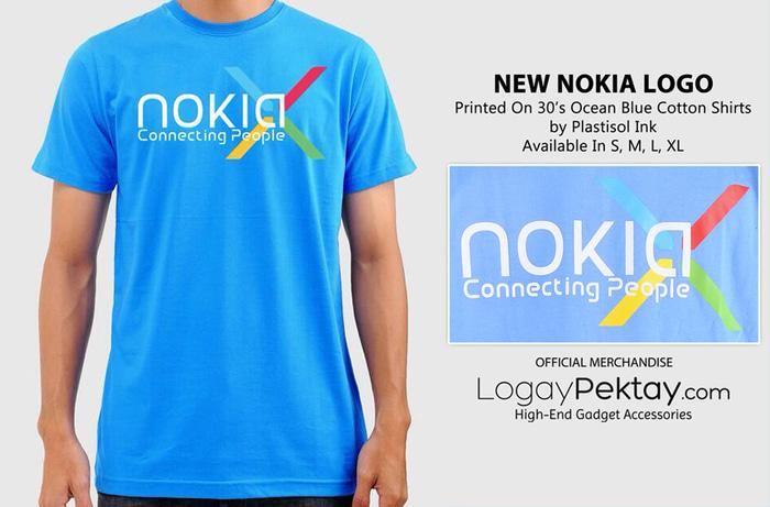 Harga Spesial!! Kaos Android T-Shirt New Nokia Logo  - Logaypektay Design - Baju Nokia Android - ready stock