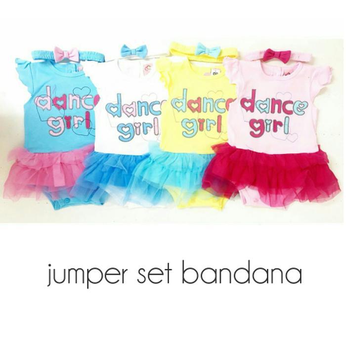 Mi Angel Baju Jumper Tutu Anak Bayi Perempuan Dance Girl Set Bandana
