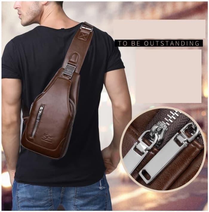 Tas Selempang Kulit Pria Sling Bag IMPORT High Quality CS TL-03