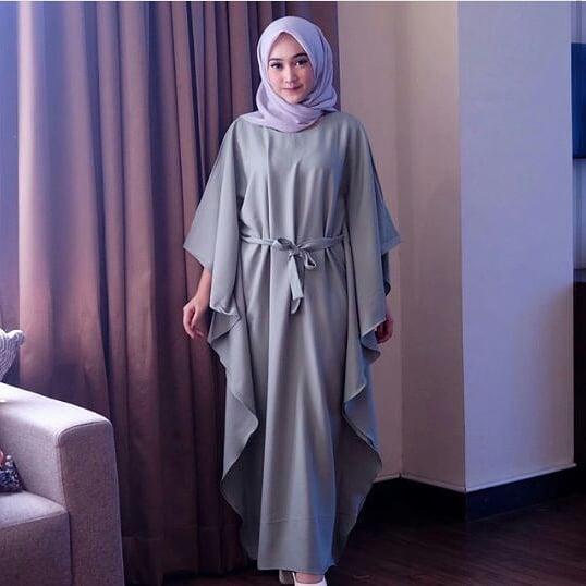 Busana Wanita Trendy kekinian modis dan elegant model PLAIN KAFTAN berkualitas