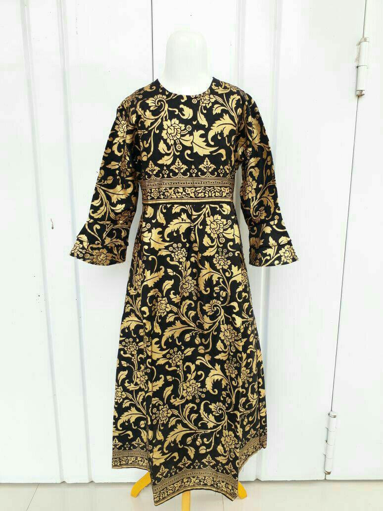 Gamis Batik Prada Anak Simple Murah