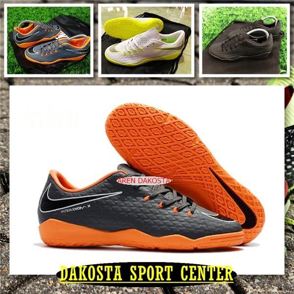 Sepatu Futsal Hypervenom Phelon III IC - Dark Grey Orange, Black Out, White Volt