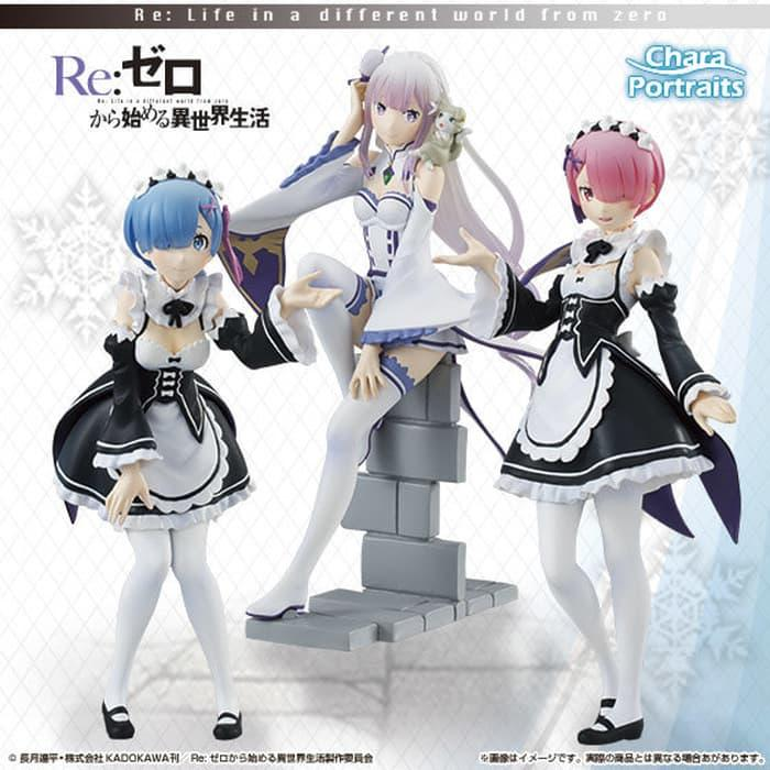Hemat 10%!! Chara Portrait Re Zero Kara Hajimeru Isekai Life In Another World - ready stock