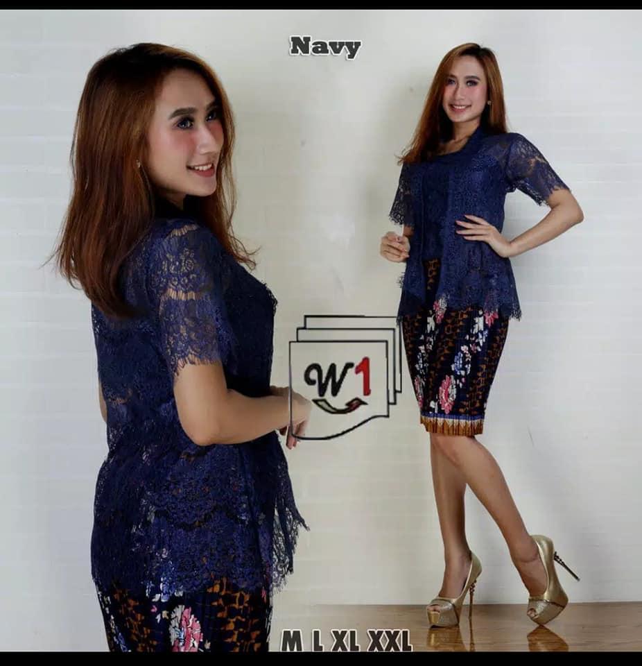 Setelan baju batik brukat kebaya wanita/Fahsion wanitakebaya modern/kebaya tradisional/kebaya wisuda/kebaya lengan pendek &rok pendek terbaru higt quality