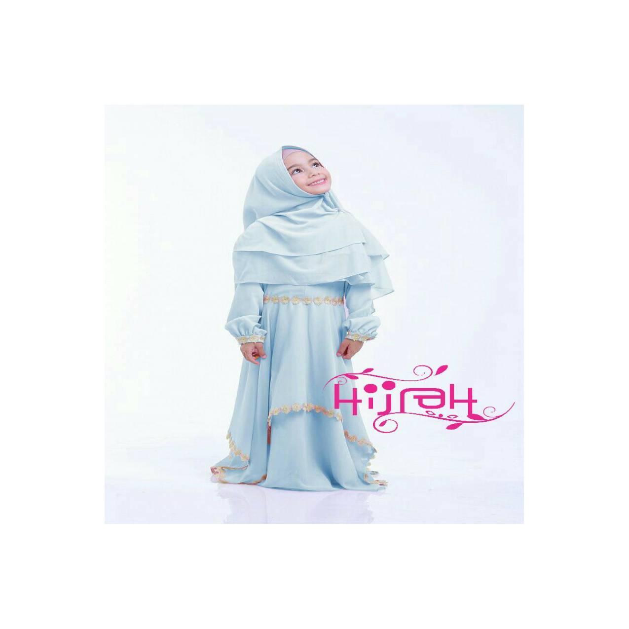 Gamis Bilqis kids BabyPink ori by Hijrah Premium Quality