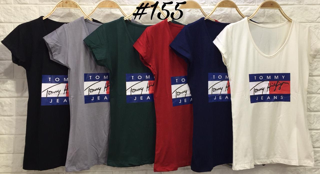 Elizabeth Grosir FX 155 Basic Tshirt Tommy Kaos Wanita / pakaian Wanita / Baju Sehari hari