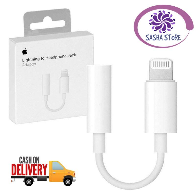 SS Apple Adapter Connector Iphone 7 to Headset / Lightning to 3.5mm Headphone Jack Adapter for Iphone 7 8 - Original