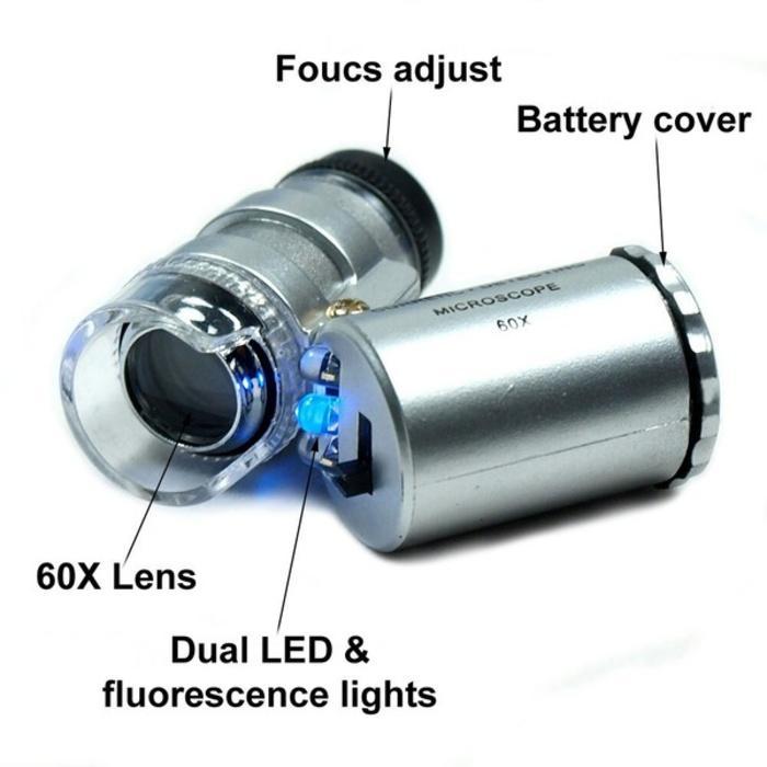 Mikroskop/Microscope Loupe 60X- Kekeran Batu Mulia- Bacan- Safir- Akik