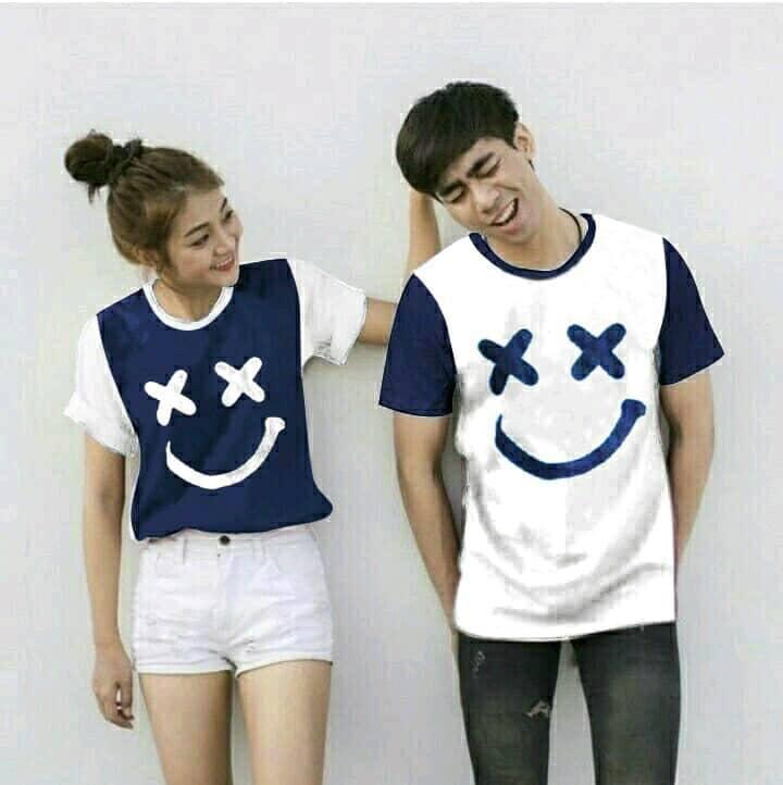 TJ.COLL - Kaos LENGAN PENDEK CP XOXO -HARGA SUDAH DAPAT 2KAOS = ( PRIA L-WANITA M) KAOS MURAH HARGA GROSIRAN Busana Pasangan  Kaos Couple  Kaos Oblong  T-Shirt