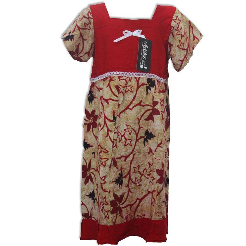 Daster Anak Batik, Baju Tidur Anak, Piyama Anak, Ukuran L Usia 3-4 Tahun (BKA003) Batik Alhadi