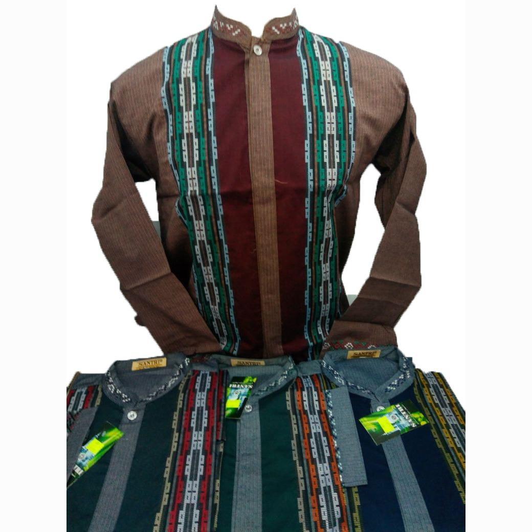 Kemeja Muslim / Baju Koko / Atasan Muslim Takwa Pria Lengan Panjang Merk Santri - Toko Sumber Rejeki Jeans