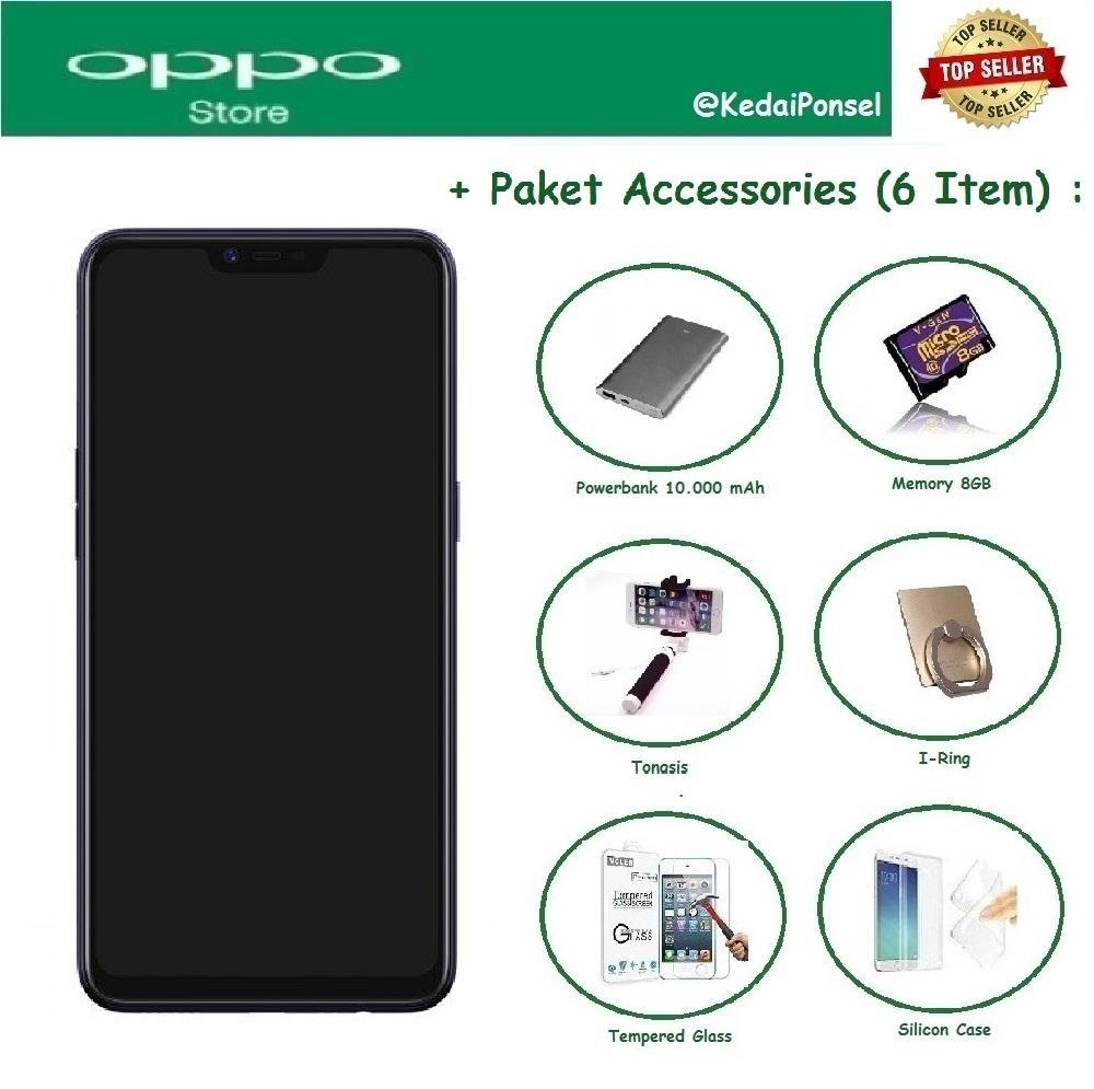 OPPO A3S [2/16GB] + 6 Item Accessories