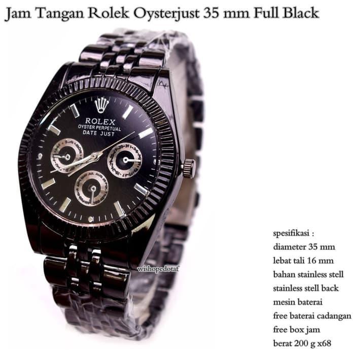 HOT SPESIAL!!! Jam Tangan Rolex Watch Oyster + Box Rolex - Hitam