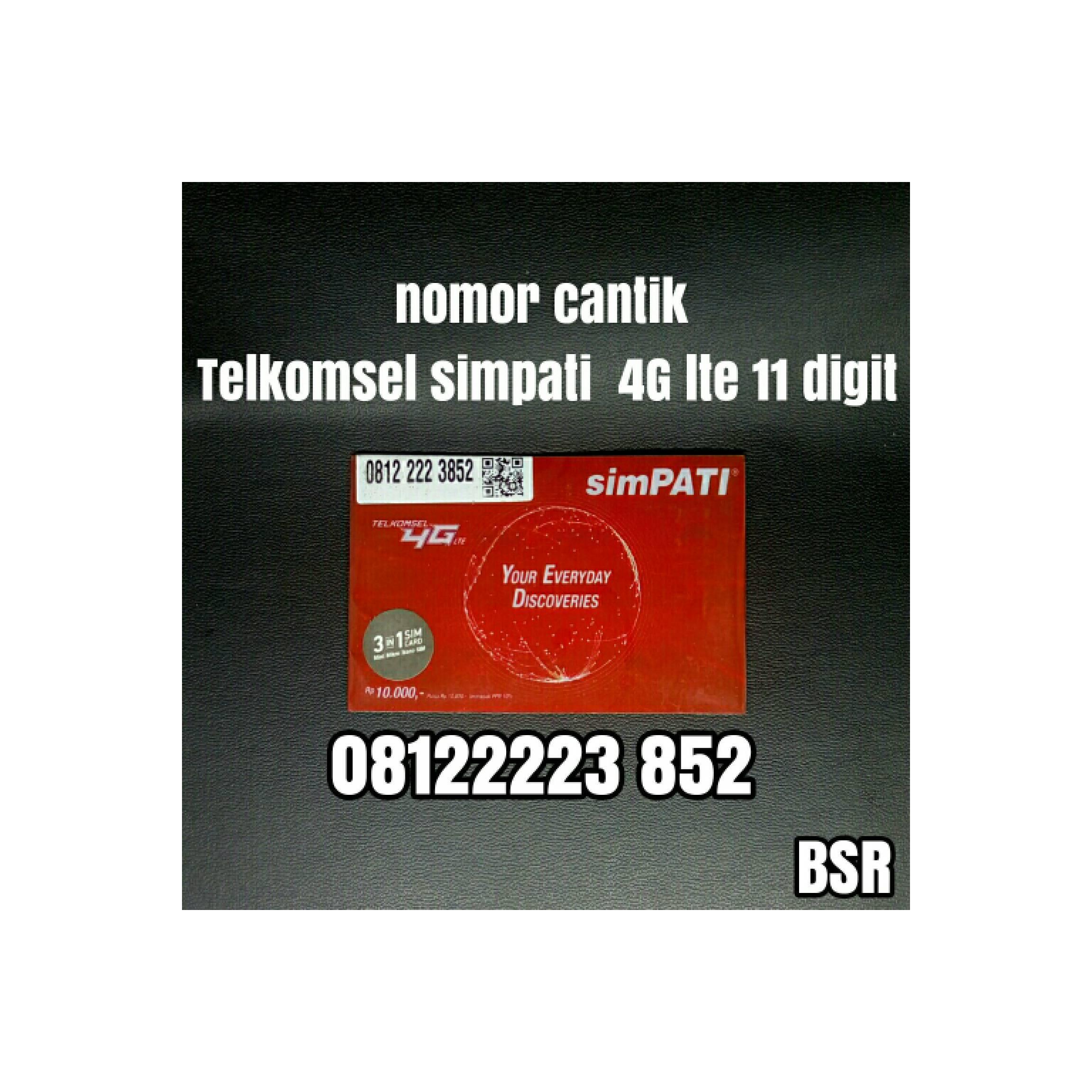 nomor cantik Telkomsel simpati 4G lte 11 digit kartu perdana bagus 852