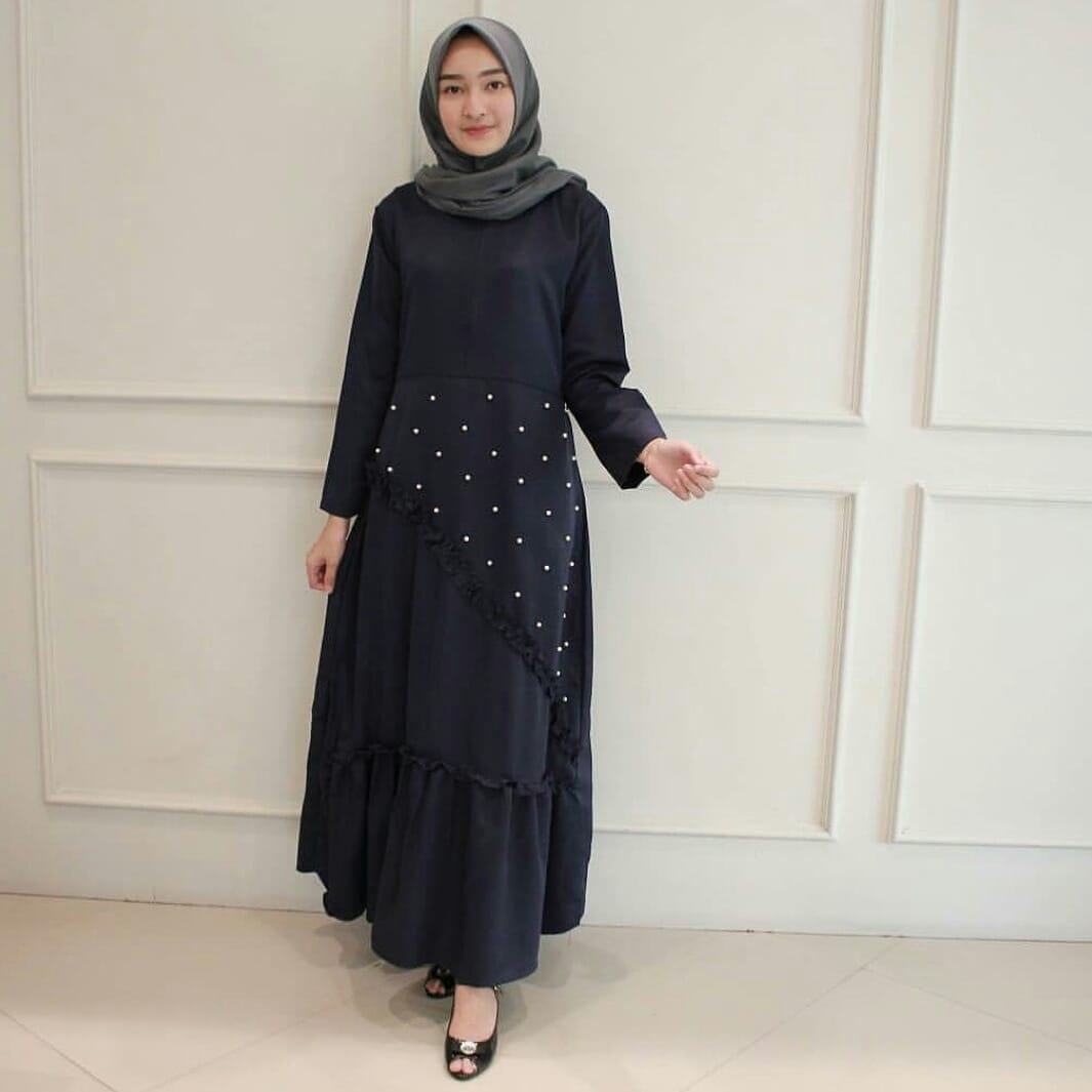 Baju Original Gamis Nadia Maxi Dress Balotelly Baju Muslim Terbaru 2018 Baju  Wanita Gamis Casual Baju 36df4fd259