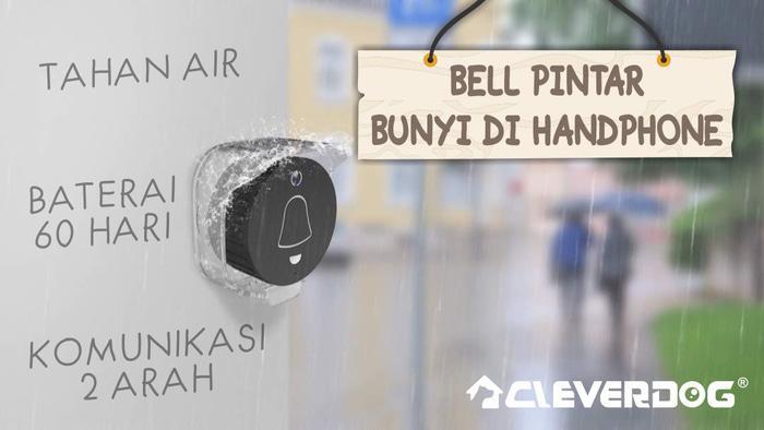 Bel Pintu Bunyi Di Hp (Cleverdog)Dan Ada Bel Suara Buat Didalam,PINK Terlaris di Lazada