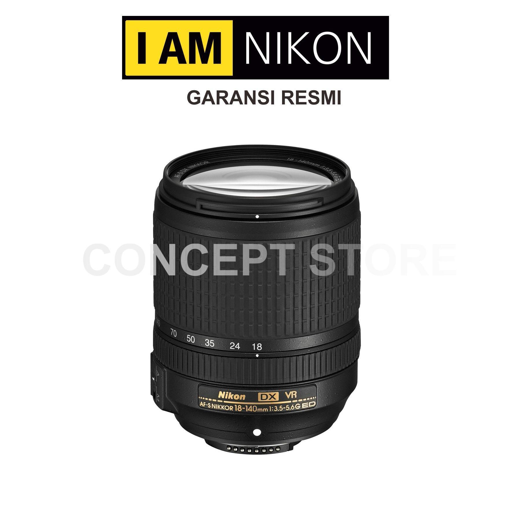 Nikon AF-S DX Nikkor 18-140mm f/3.5-5.6G ED VR Lensa Kamera