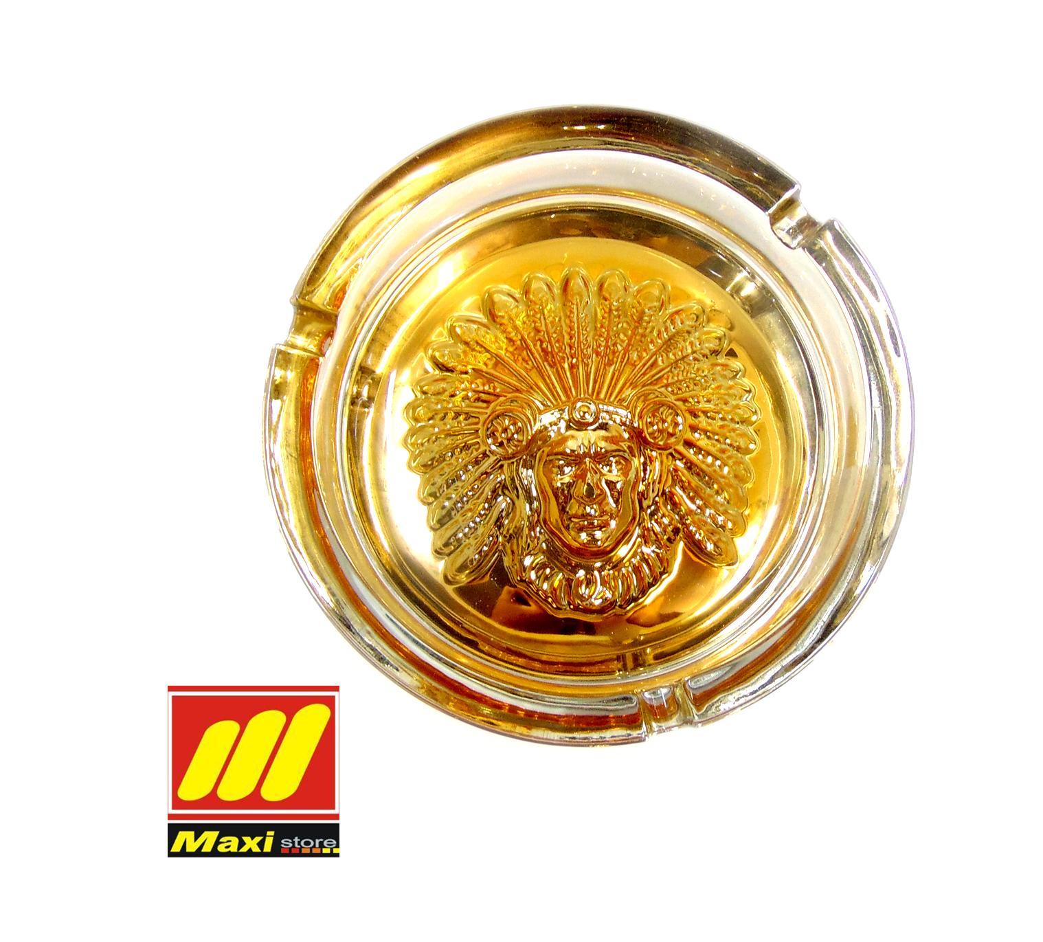 Rp 60.000 asbak bulat warna gold / Asbak kaca/ asbak rokok/asbak inchan - MaxistoreIDR60000. Rp 61.000