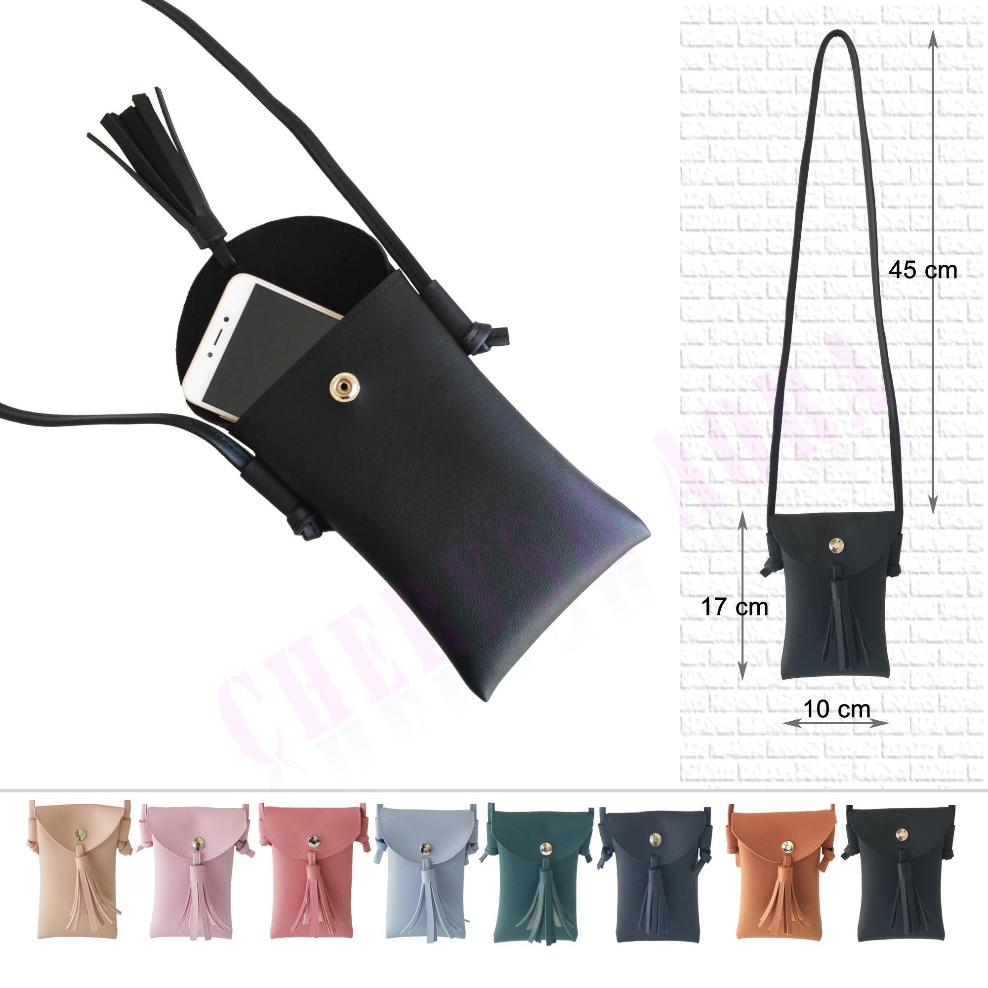 tas selempang wanita / tas wanita / sling bag mini / sling phone / tas kuncir / rumbai