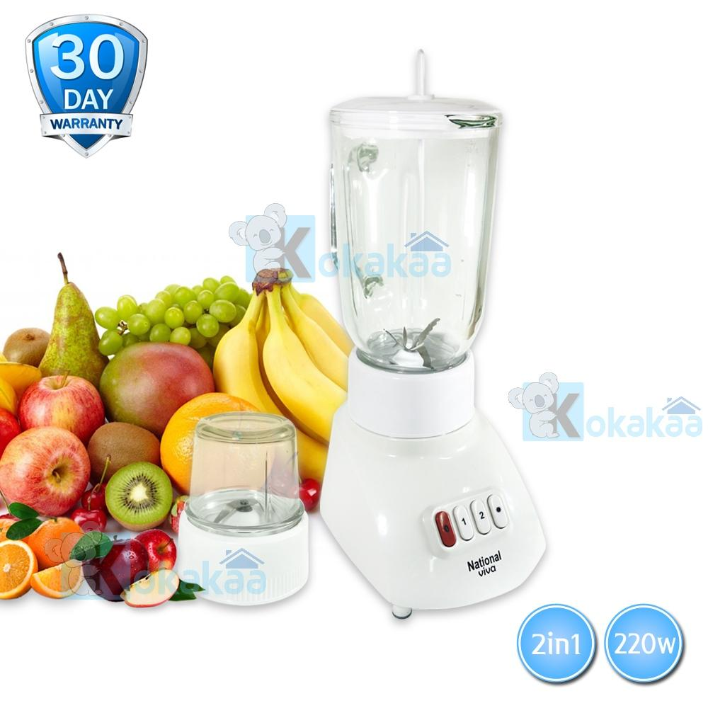 Blender Mixer Juicer Terlengkap Natonal Omega National Glass Jar Mx T11gn Viva Bahan Kaca 2in1 Low Watt