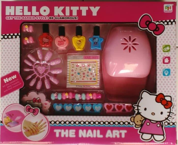 Mainan Anak Perempuan - The Nail Art Hello Kitty Beauty Set Kuku Palsu