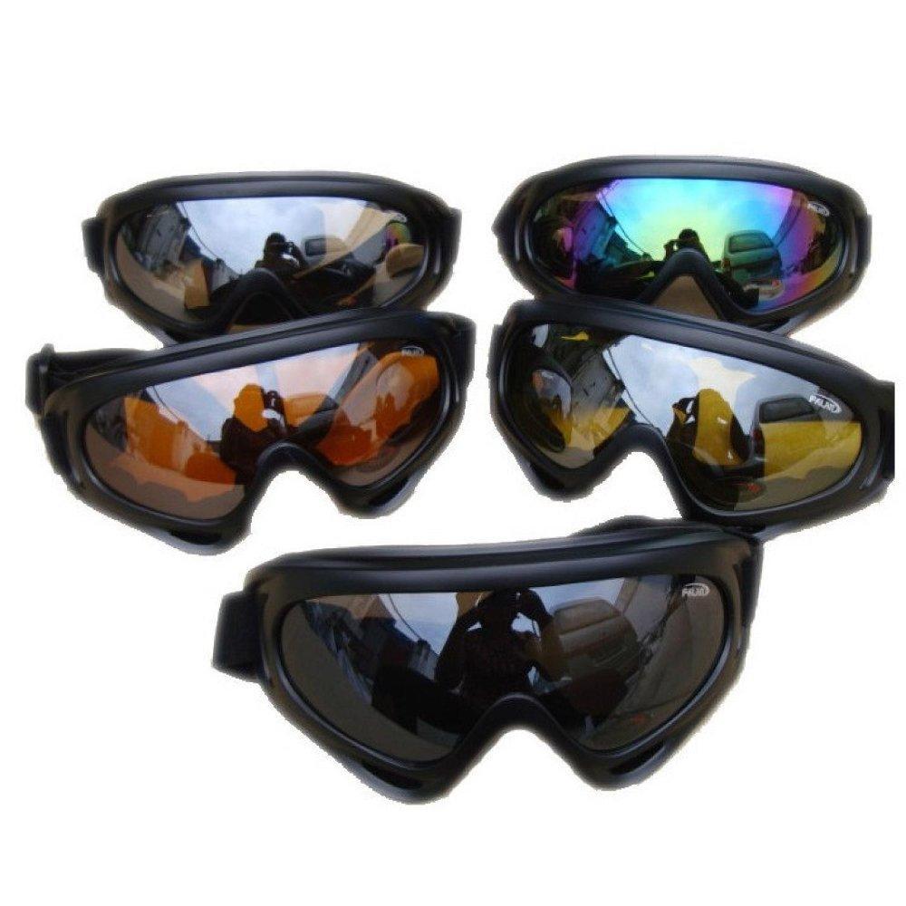 Kacamata Goggle Ski Tactical Sepeda Motor Pelindung Mata Lensa Wide UV Kacamata Motor Ski
