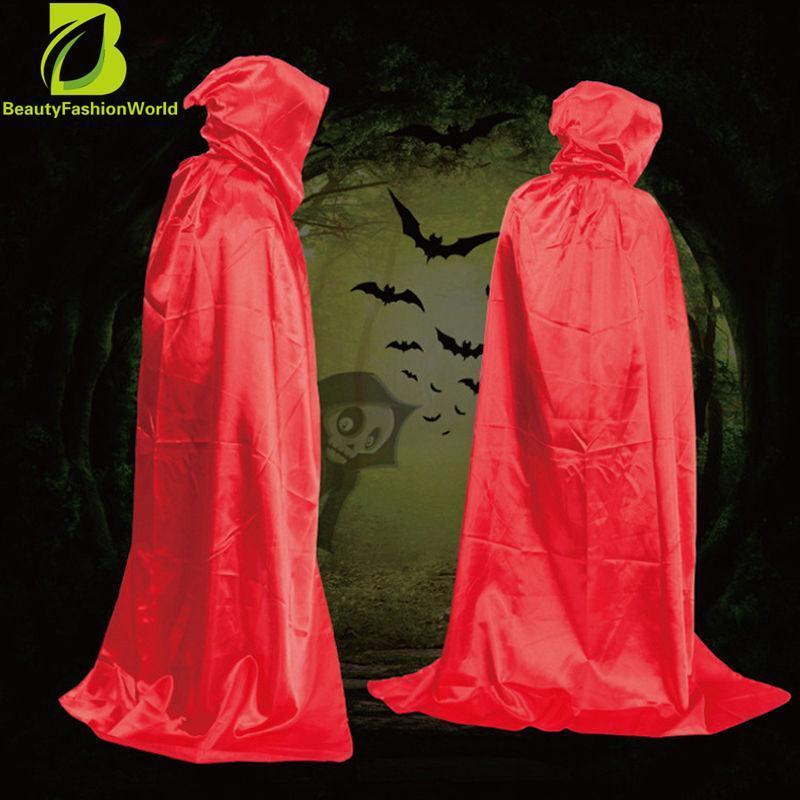 Dekorasi Unisex Dewasa Children Halloween Berkerudung Jubah Cape Cosplay Pesta Bola Kostum-Intl