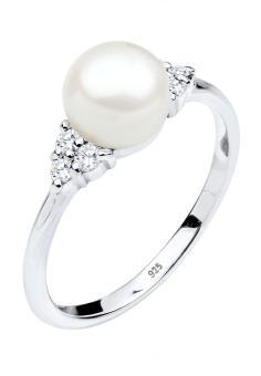 Pencari Harga Elli Germany Perhiasan Wanita Perak Asli - Silver Cincin Classic Zirconia Mutiara Putih terbaik murah - Hanya Rp186.998
